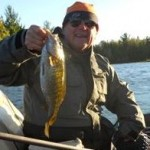 Smallmouth fish caught with signature fishing rods