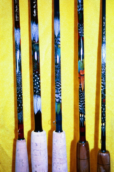 Exotic Feather Custom Fishing Pole