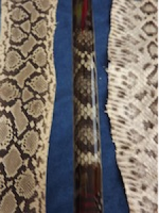 Rattlesnake Skin Inlay for Fishing Pole