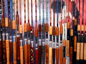 Photo of some of the Custom Rods available